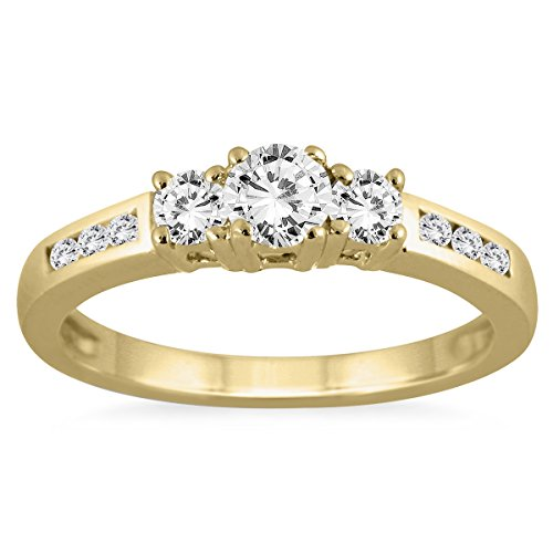 ags-certified-1-2-carat-tw-diamond-three-stone-ring-in-10k-yellow-gold-k-l-color-i2-i3-clarity