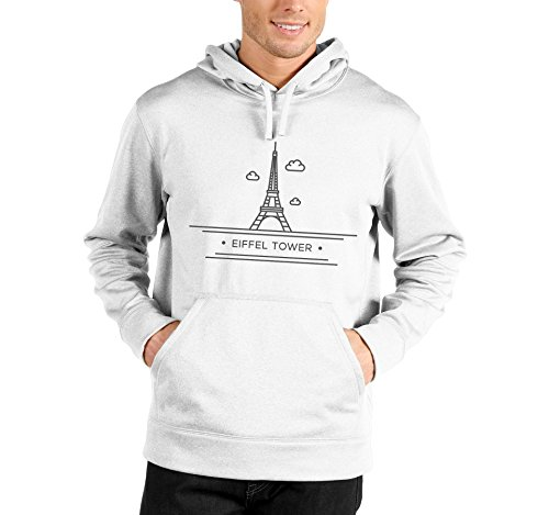 Felpa con cappuccio Eiffel Tower - Tour Eiffel - travel - in cotone Bianco