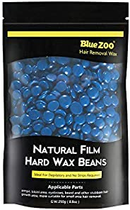 BlueZoo Depilatory Hard Wax Beans - 250 gms Bag - Chamomile