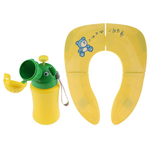 Preisvergleich Produktbild Homyl Kinder Baby Toilettensitze Toilettentrainers Unterwegs WC Sitz mit mobile Toilette Urinal Auto WC - Gelb