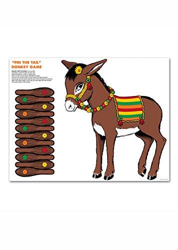 Struts Fancy Dress PIN der Schwanz auf dem Esel-Party-Spiel (Pin Der Schwanz Spiele)