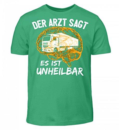Shirtee Hochwertiges Kinder T-Shirt - Lastwagen Shirt · Geschenkidee für Berufskraftfahrer · Aufdruck LKW Motiv/Spruch · Verschiedene Farben Pacific Green