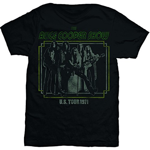 Alice Cooper Show Live 1971 Tour Rock ufficiale Uomo maglietta unisex (Medium)