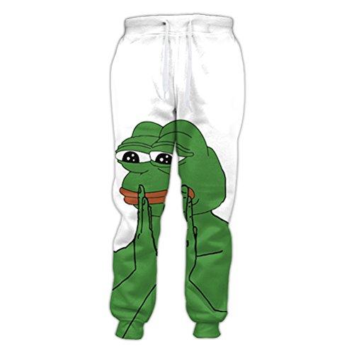 YKpants Cartoon Tier Pepe Jogger Charakter Hip Hop 3D-gedruckten Trainingshose Hose Hosen