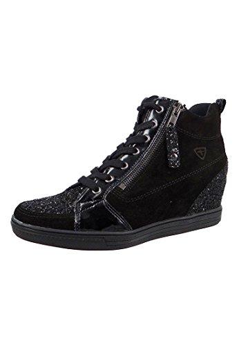 Tamaris Sneaker alta nero nero 1-25258-27 098 pettine Black Comb