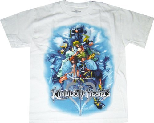 kingdom-hearts-ii-characters-art-cover-white-t-shirt-xs