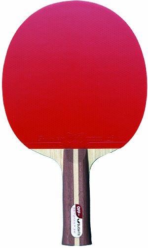 Butterfly Primorac Off FI- Racchetta da ping pong con facce in gomma, colore: nero/rosso