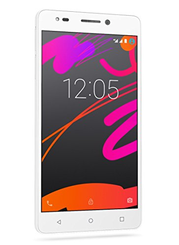 BQ Aquaris M5.5 - Smartphone de 5.5 pulgadas (4G, Wi-Fi, Bluetooth 4.0, Qualcomm Snapdragon 615 Octa Core A53 1,5 GHz, 16 GB de memoria interna, 2 GB de RAM, Android 5.1 Lollipop), blanco