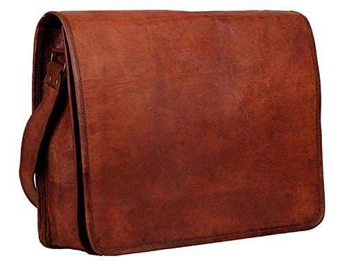 Artishus Vintage Brown Umhängetasche für Damen und Herren, 38,1 cm (15 Zoll) Laptop, Aktentasche, für Schule/Uni/Büro - Gucci Canvas-notebook