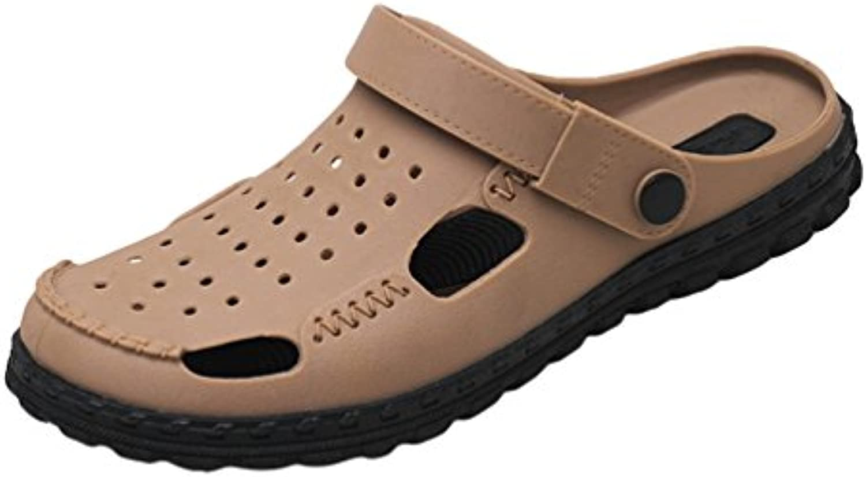 Lvguang Herren Clogs Garten Schuhe Freizeit Pantoffel Strand Pool Hausschuhe Große Größe Atmungsaktive Sandalen