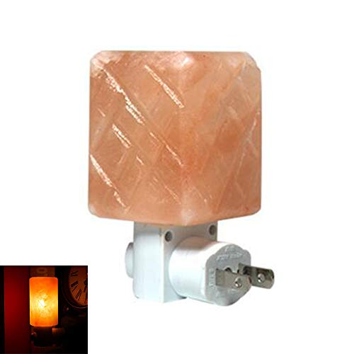 ZQDENG Lámpara de Sal del Himalaya Purificador de Aire Sal de Cristal Bombillas de Cristal Natural...