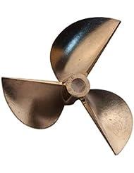 """""""Goliton Rc Barco 3 cuchillas de paleta Hélice de cobre Hélice para barcos Positivo D70 * Φ6.35mm Paso 1,4mm"""""""