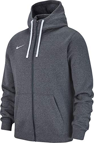 Nike Herren M Hoodie FZ FLC TM CLUB19 Sweatshirt, Charcoal Heathr/Anthracite/White, 2XL (Charcoal Sweatshirt)