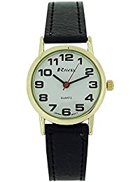 Ravel Classical Black Strap Ladies Dress Watch R0105.05.2