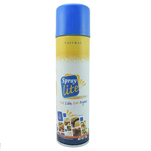 Non Sticky Cooking Spray  Description  Spray Lite Cooking Spray is an American formulated product launched for the first time in India. All natural Spray Lite is a HEALTHY ALTERNATIVE to using oil in your daily cooking. With ZERO Cholesterol, 0%Fat and 0% Calories per serving. Spray Lite cuts out all the fat, not the taste!  Features & details  Healthy & Convinent way to cook without the calories of oil or butterIdeal for general cooking,sauteing & stir fryAlcohol FreeIt is Non-StickShake Well Before Use  Product Information  Specialty - Alcohol Free, Fat Free Weight - 177 Grams Ingredient Type - Vegetarian