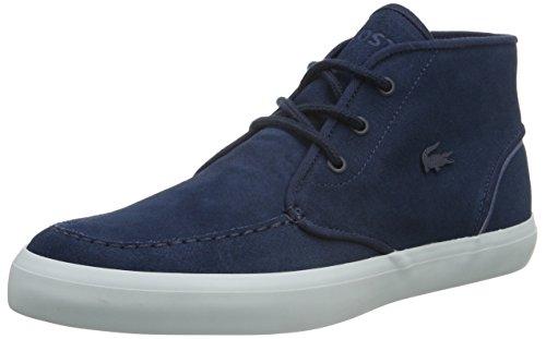 Marine-blau-leder-heels (Lacoste Herren Sevrin Mid 316 1 High-Top, Blau (Nvy 003), 47 EU)