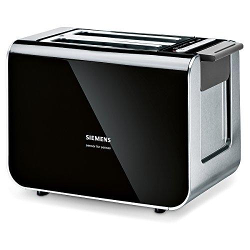 Siemens TT86103 Toaster / 860 Watt / für 2 Scheiben / wärmeisoliertes Gehäuse / schwarz