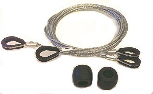 Garador Canopy Garage Door Repair Kit Includes Cables/Nylon Guide Rollers by Garador (Door Canopy Garage)