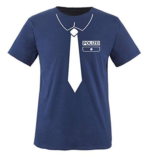 Comedy Shirts - POLIZEI KOSTÜM - Kinder T-Shirt - Navy / Weiss Gr. (Und Für Kostüme Paare Minnie Mickey)