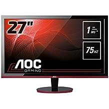 """AOC Monitores G2778VQ - Monitor de 27"""" (resolución 1920 x 1080 pixels, tecnología WLED, contraste 1000:1, 1 ms, HDMI), color negro"""