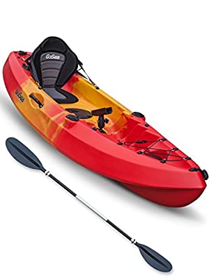 GoSea Pioneer XL Single Sit on Top Fishing Kayak by GoSea