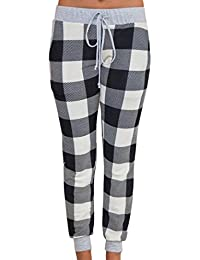 Hot Sale!!! 2018 New Arrival Super Comfortable Women Pencil Casual Plaid Skinny Pants High Waist Trousers Party Pants