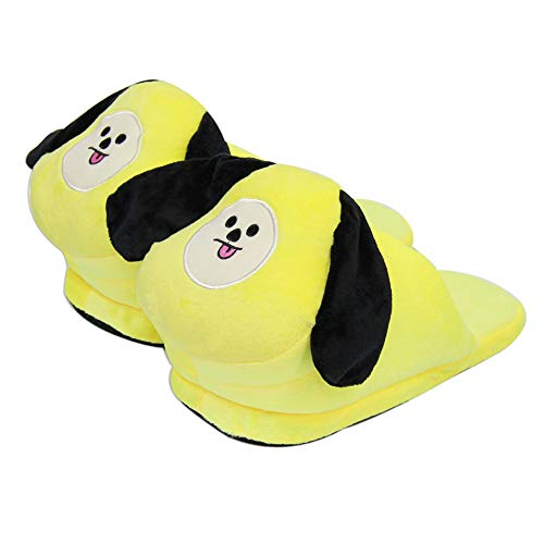 Yovvin BTS Winter Baumwolle Hausschuhe, KPOP Bangtan Jungen Jungkook, Jimin, V, Suga, Jin, J-Hope, Rap Monster Warm Weiche Home Rutschfeste Slippers für The Army(CHIMMY) -