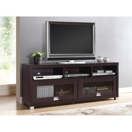 Durbin Espresso Tv Stand, for Tvs up to 65 by Techni Mobili