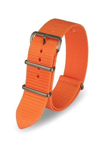 Davis Armband Nato Nylon Orange 20 mm Hochwertige Qualität