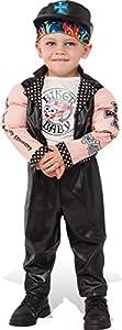 Rubies - Disfraz de Motociclista Muscoloso para niños,, XS, IT510333-XS