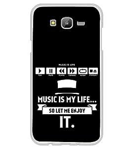 Fiobs Designer Back Case Cover for Samsung Galaxy Grand Prime :: Samsung Galaxy Grand Prime Duos :: Samsung Galaxy Grand Prime G530F G530Fz G530Y G530H G530Fz/Ds (Music Is Life Sangit Zindagi Blue Mobile Case Cover)