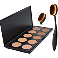 Lover Bar Cream Contour Kit-10 Colour Makeup Concealer Palette-Sleek Pigment Cosmetics Professional Base Foundation-Blemish Contouring?Camouflage?Highlighter (Blemish Base)
