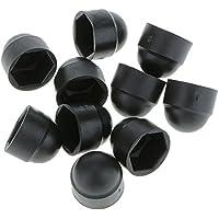 10pcs M8 Tapas Tapon Protección Cubierta Cúpula de Tuerca Perno Tornillos Hexagonales - Negro , 13*15