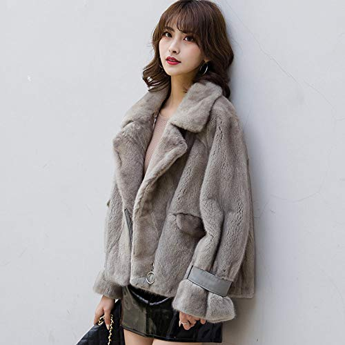 JKYIUBG Daunenjacke Natürliche Jacke Lederjacke Winterjacke Damenkleidung 2019 Korean Elegante Jacke 10