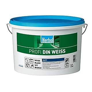 Herbol Profi DIN weiß Wandfarbe Innenfarbe matt, 12.5 L