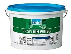 Herbol Profi DIN weiß Wandfarbe Innenfarbe matt, 12.5 Liter