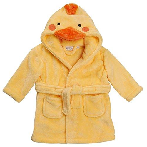 Baby Neuheit Bademantel Baby Maus Panda Duck Mit Kaputze Zifferblatt Verzierung 6-12 12-18 18-24 - Gelb Duck, 6-12 Monate
