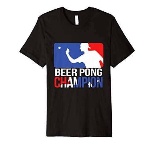 Beer Pong Champion T Shirt BEER PONG Bier trinken, Tee -