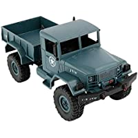 Homyl 1/16 WPL B-1 4WD Off-Road RC Army Truck Rock Crawler Car Electric Vehicel Model Toy Xmas Gifts - Green - Compare prices on radiocontrollers.eu