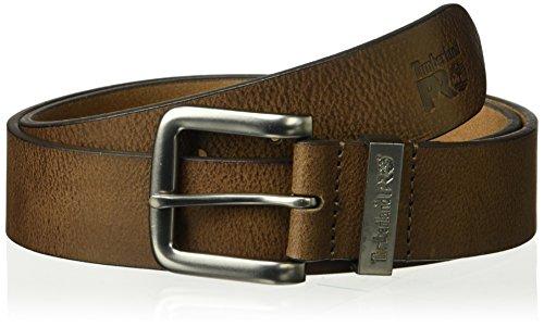 Timberland PRO Herren 40mm Workwear Leather Belt Gürtel, Brown/Logo Keepers, 44 (Timberland Gürtel Aus Leder Für Männer)