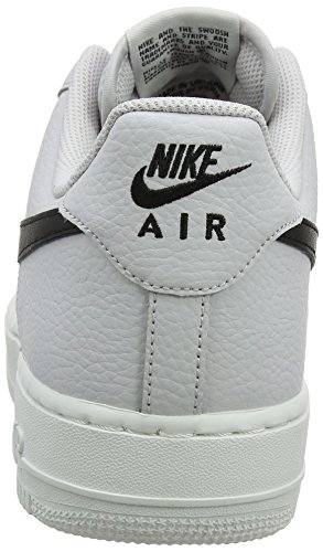 Nike Air Force 1 07, Sneaker Uomo Bianco (Vast Grey/black-summit White 008)