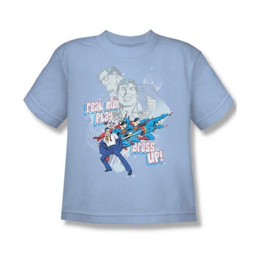 Dc Comics - Echte Männer Youth T-Shirt in Hellblau Light Blue
