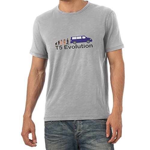 TEXLAB - T5 Evolution Color Edition - Herren T-Shirt Grau Meliert