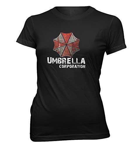 "Resident Evil donna maglietta ""Umbrella Corporation"" gioco- Movie T-Shirt S fino a XXL - Nero, S"