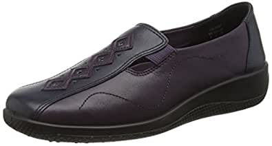 Hotter Women's Calypso Loafers, Multicolor (Navy/Loganberry), 3 UK 35 1/2 EU
