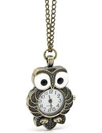 Lepakshi Funique Bronze Tone Necklace Chain Quartz Pocket Watch Fullmetal Alchemist Clock Pendant P