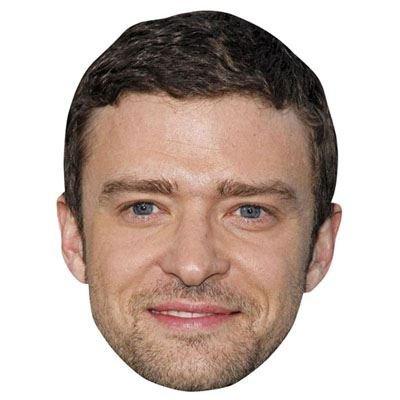Celebrity Cutouts Justin Timberlake Maske aus Karton