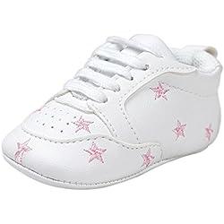 Tefamore Zapatos Bebé Ocasionales Zapatillas de Deporte del Niño del Vendaje de la Forma del Amor del Bordado del Suavemente Calza (11, Rosa 2)