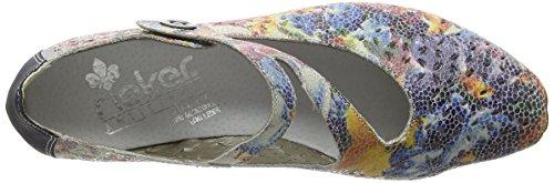 Rieker - 43777, Scarpe con Tacco Donna Multicolore (Ice-multi/pazifik / 90)