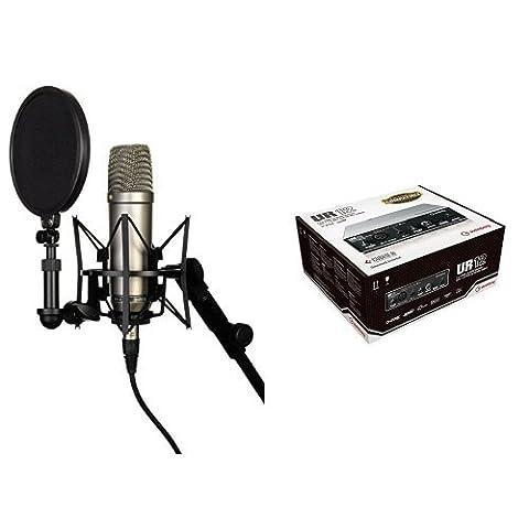 Rode NT-1A Großmembran-Kondensatormikrofon mit goldbedampfter und elastisch gelagerter 2,5 cm (1 Zoll) Nierenkapsel + Steinberg UR12 USB Audio Interface mit iPad support